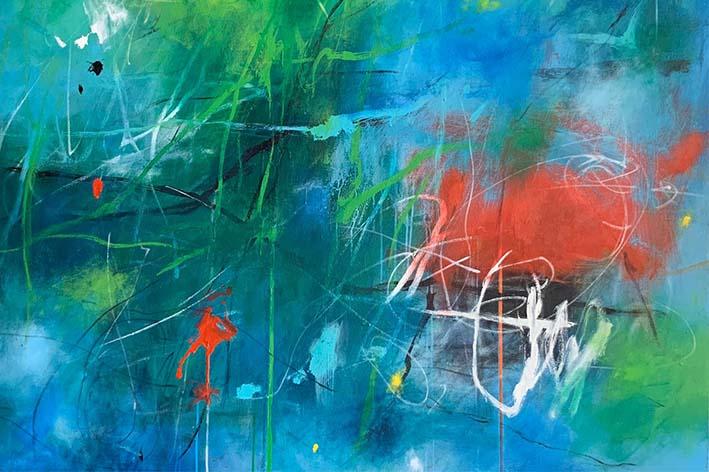 Julio Parra-arte abstracto-obras de arte -interiores-decoración