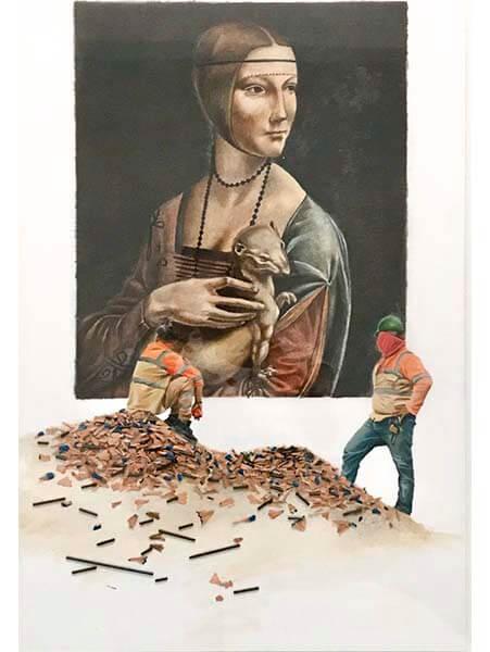 La dama del armiño de la serie en obras - arte loft galería