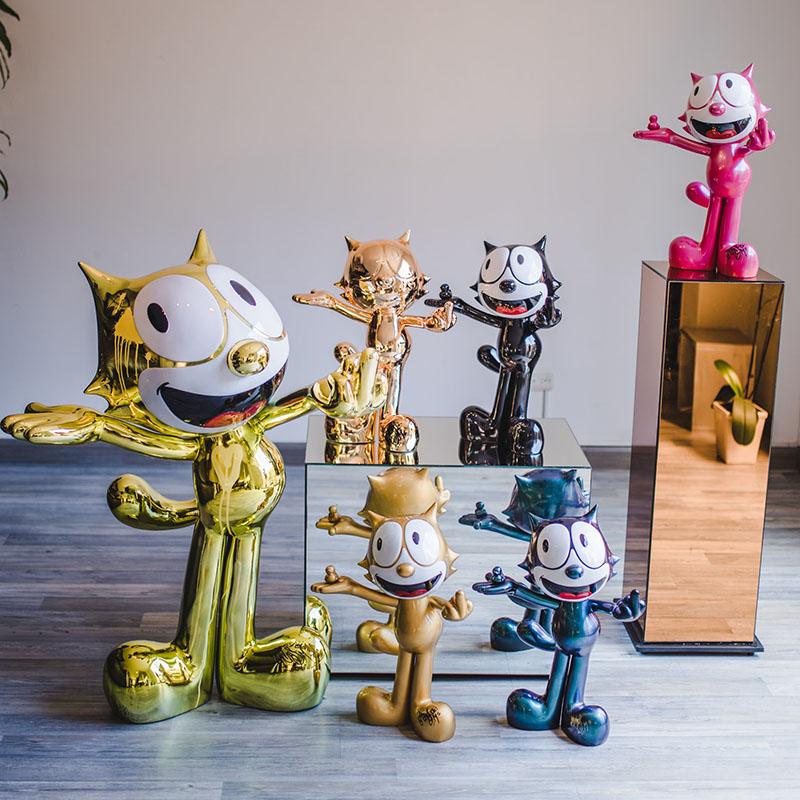 Andres moreno - esculturas - gato felix - arte loft galeria - escultura contemporánea