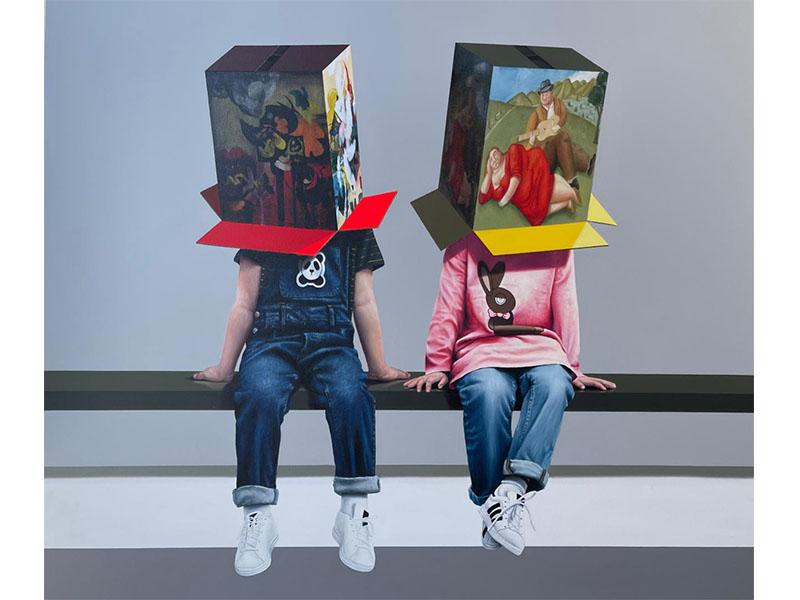 Javier Caraballo - óleo sobre lienzo - pintura contemporánea - galería de arte - arte colombia
