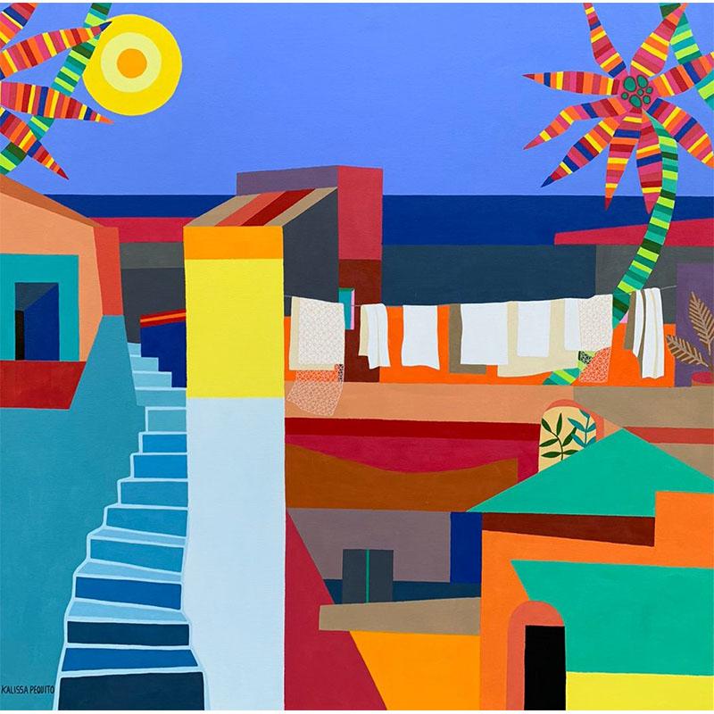 kalissa pequito - arte colorido - arte contemporaneo - arte contemporaneo figurativo - arte loft galeria - arte para interiores - decoracion